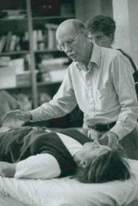 John Harvey Gray Giving a Reiki Session